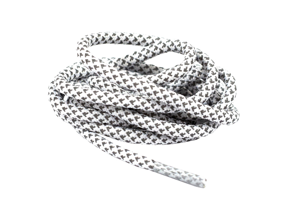 Round Rope V2 White reflective laces