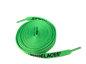 Off White Shoe Laces Green