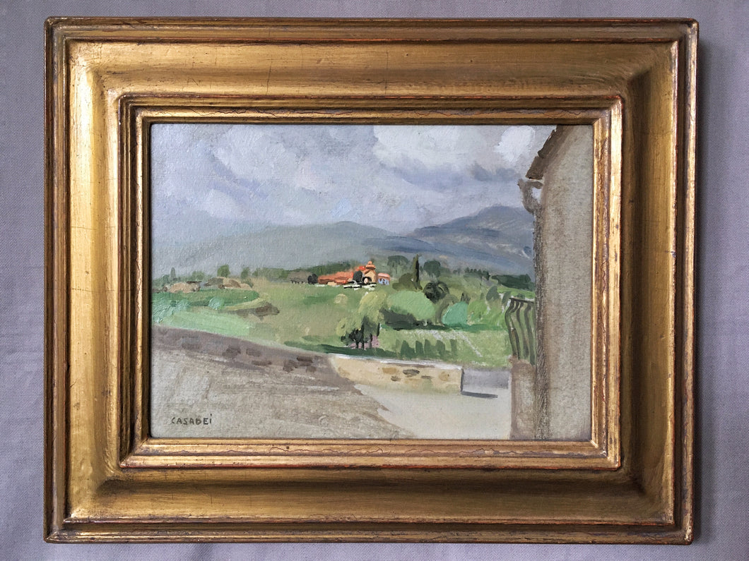 "Giovanni Casadei  ""Tuscany - Laterina Countryside"" oil on panel"