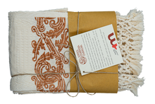 Load image into Gallery viewer, Hand-Printed Cotton Towels - Set of Two - RUST