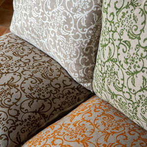 Hand-Printed Pillow Cover - GREEN