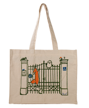 Load image into Gallery viewer, My Sister Anna's Whimsical Hand-Printed Tote Bag