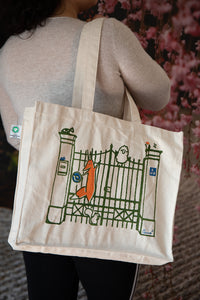 My Sister Anna's Whimsical Hand-Printed Tote Bag