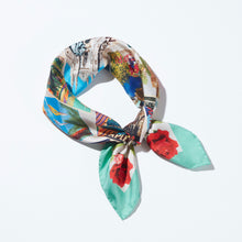 Load image into Gallery viewer, Cartoline Silk Scarf
