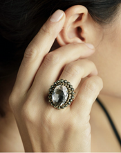 Load image into Gallery viewer, Marea Adjustable Ring - Ematite