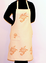 Load image into Gallery viewer, Hand-Printed Apron - RUST