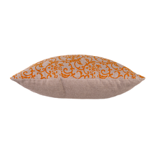 Load image into Gallery viewer, Hand-Printed Pillow Cover - ORANGE