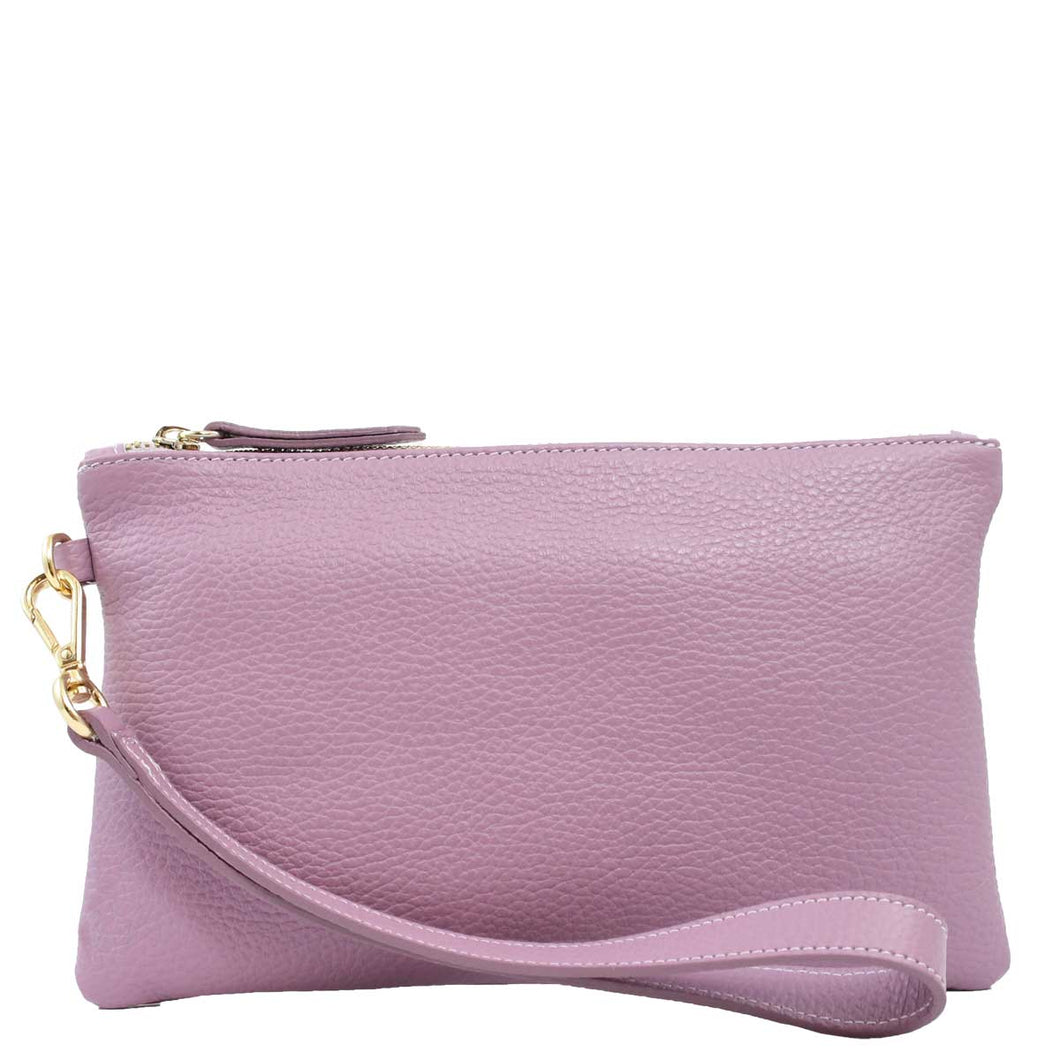 Leather Pouch Small - WISTERIA