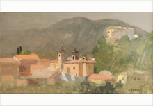 "Load image into Gallery viewer, Giovanni Casadei ""Abruzzo - Torre dei Passeri, the Basilica"" oil on panel"
