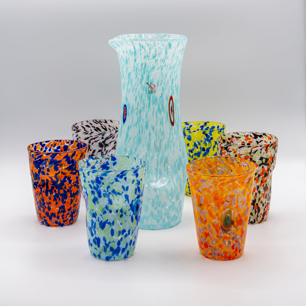 Murano Set of Six Hand Blown