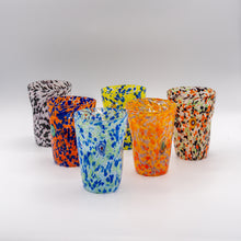 "Load image into Gallery viewer, Murano Set of Six Hand Blown ""Goti"" Glasses with Carafe"