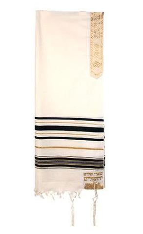 Black and Gold Joseph Acrylic Tallit
