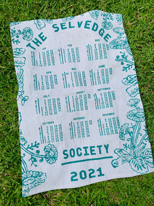 TSS 2021 calendar tea towel
