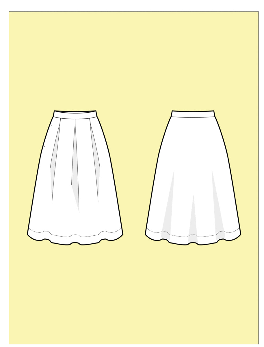 Assembly Line Three Pleat Skirt Sewing Pattern