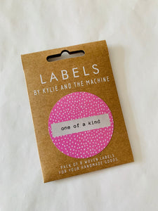 Labels by Kylie and the Machine: One of a kind