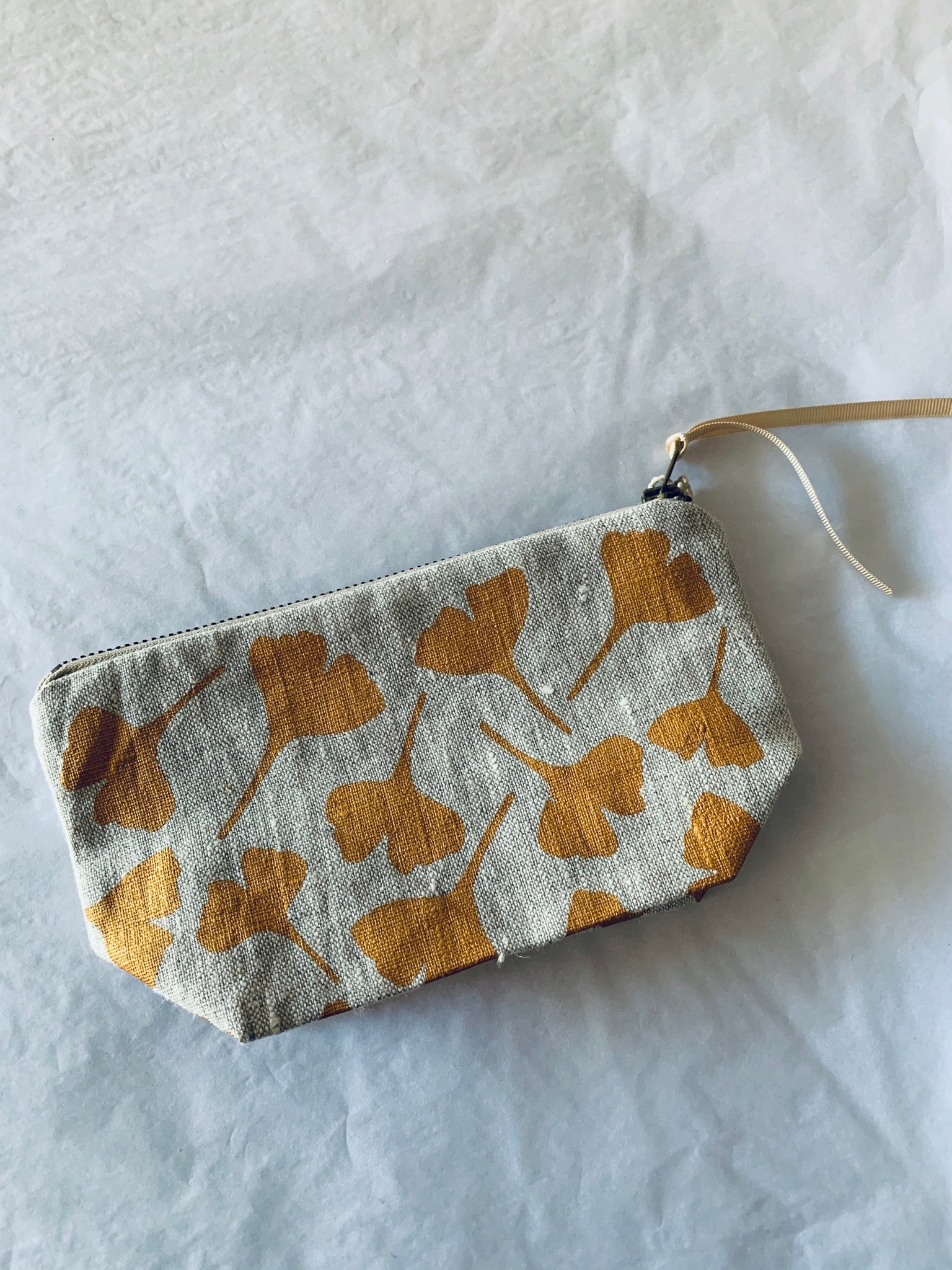 Lamina Godman zip purse: Gingko Leaves