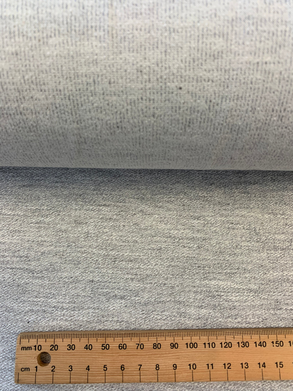 Cotton French Terry in Light Grey Marle