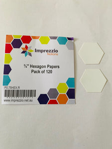 "Imprezzio 3/4"" hexagon papers"