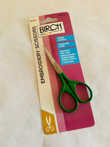 Birch embroidery scissors: green