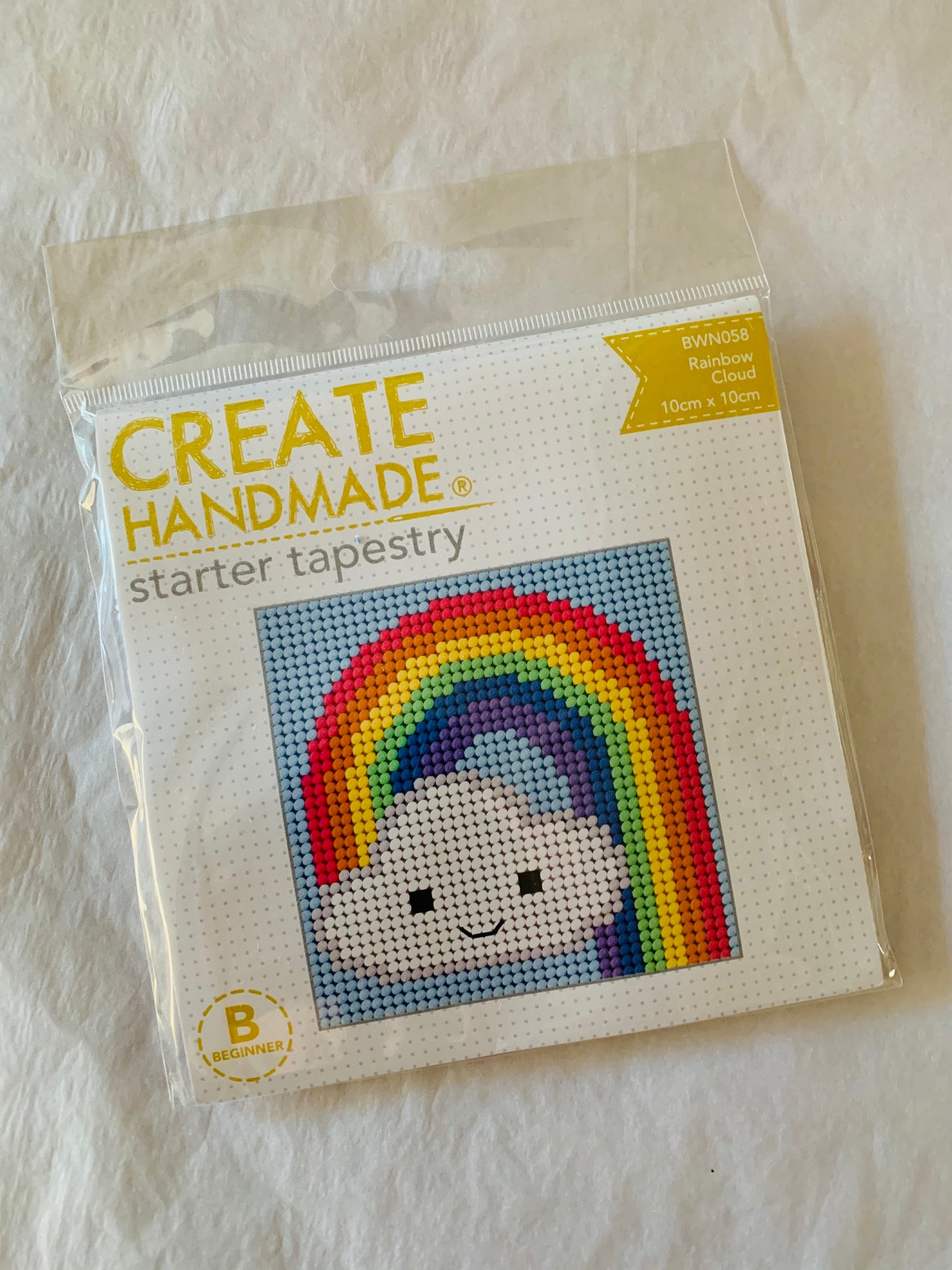 Create Handmade: Rainbow Cloud embroidery kit