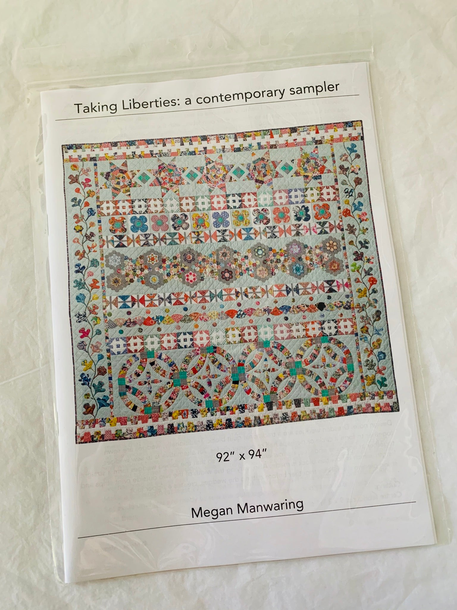 Megan Manwaring: Taking Liberties a contemporary sampler Pattern