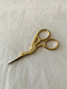 Crane Scissors in brass