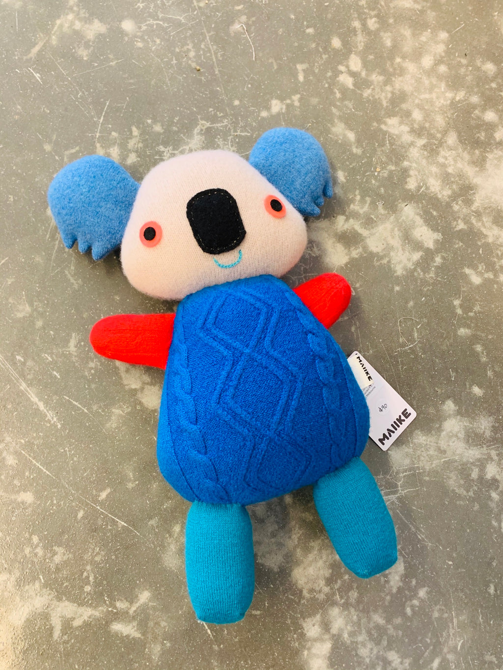 Maiike koala in Electric Blue by Aly Peel