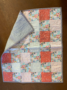 The Selvedge Society baby quilt: Patch Floral