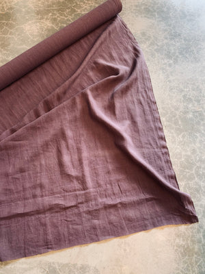 Antique Wash Linen in Raisin
