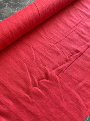 Mid Weight Linen: Strawberry