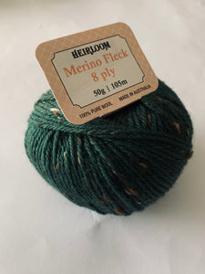 Heirloom Merino Fleck 8 Ply Elm  Col 6579