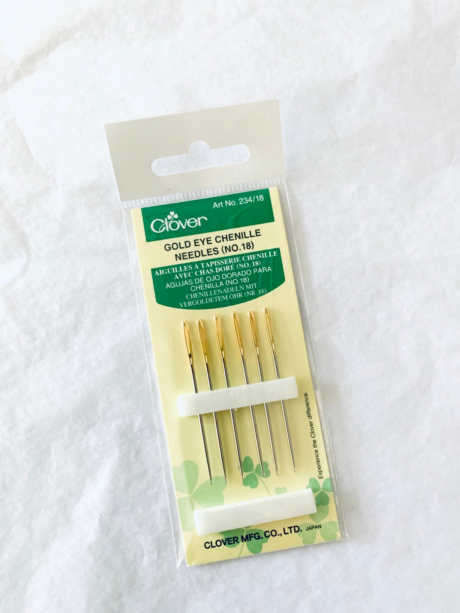Clover Gold Eye Chenille Needles (#18)