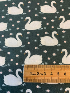 VINTAGE Cotton and Steel: White Swans