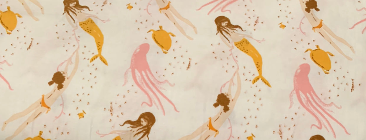 Heather Ross quilting cotton: Mermaids