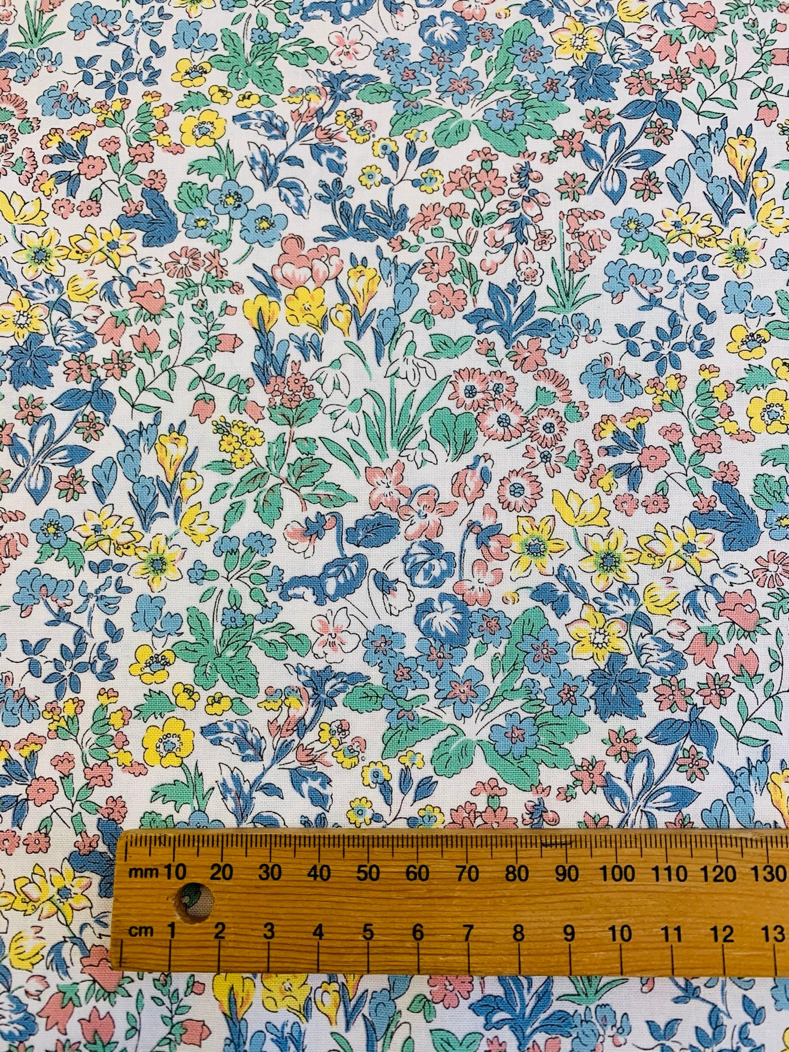 Liberty Cotton: Wisley Flowers