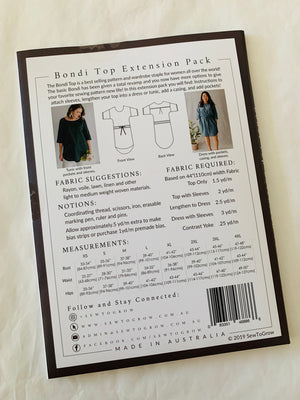 Sew To Grow Bondi top extension paper sewing pattern