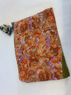 Indian Kantha purse: Various in Red & Pink & Orange