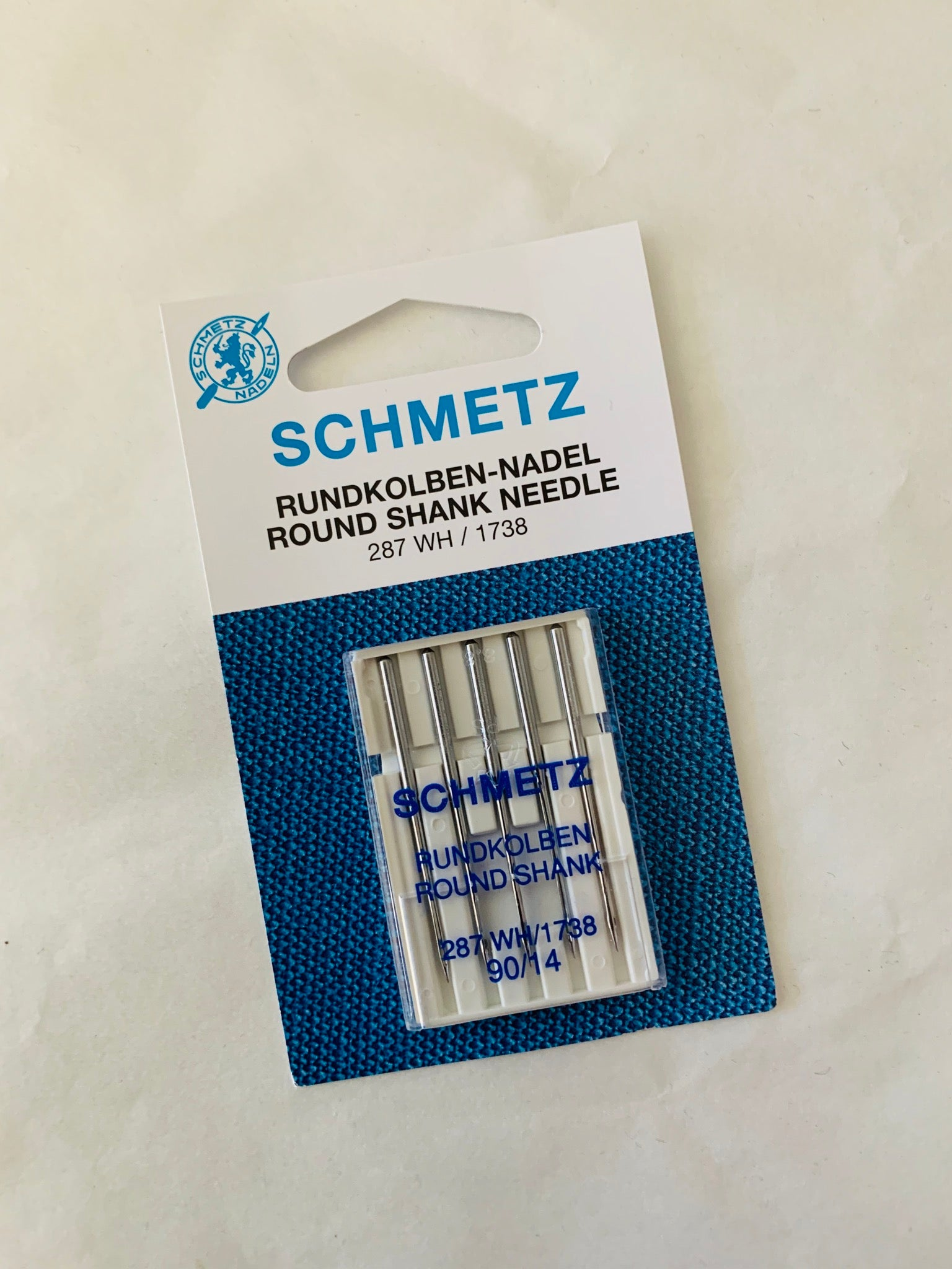 Schmetz sewing machine needles: Round Shank 90/14