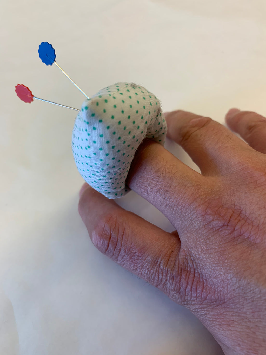 The Selvedge Society finger pin cushions: various