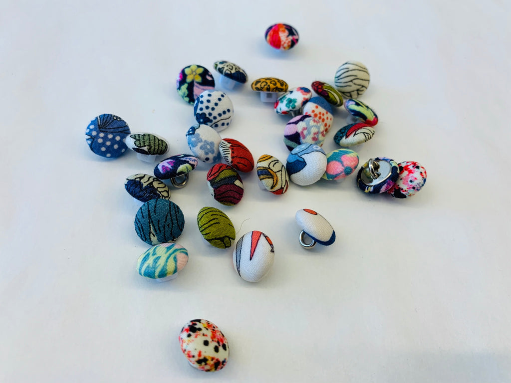 Liberty covered buttons: multi