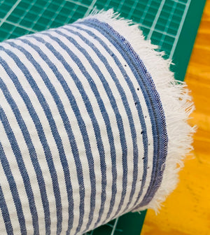 Poly/Cotton seersucker stripe