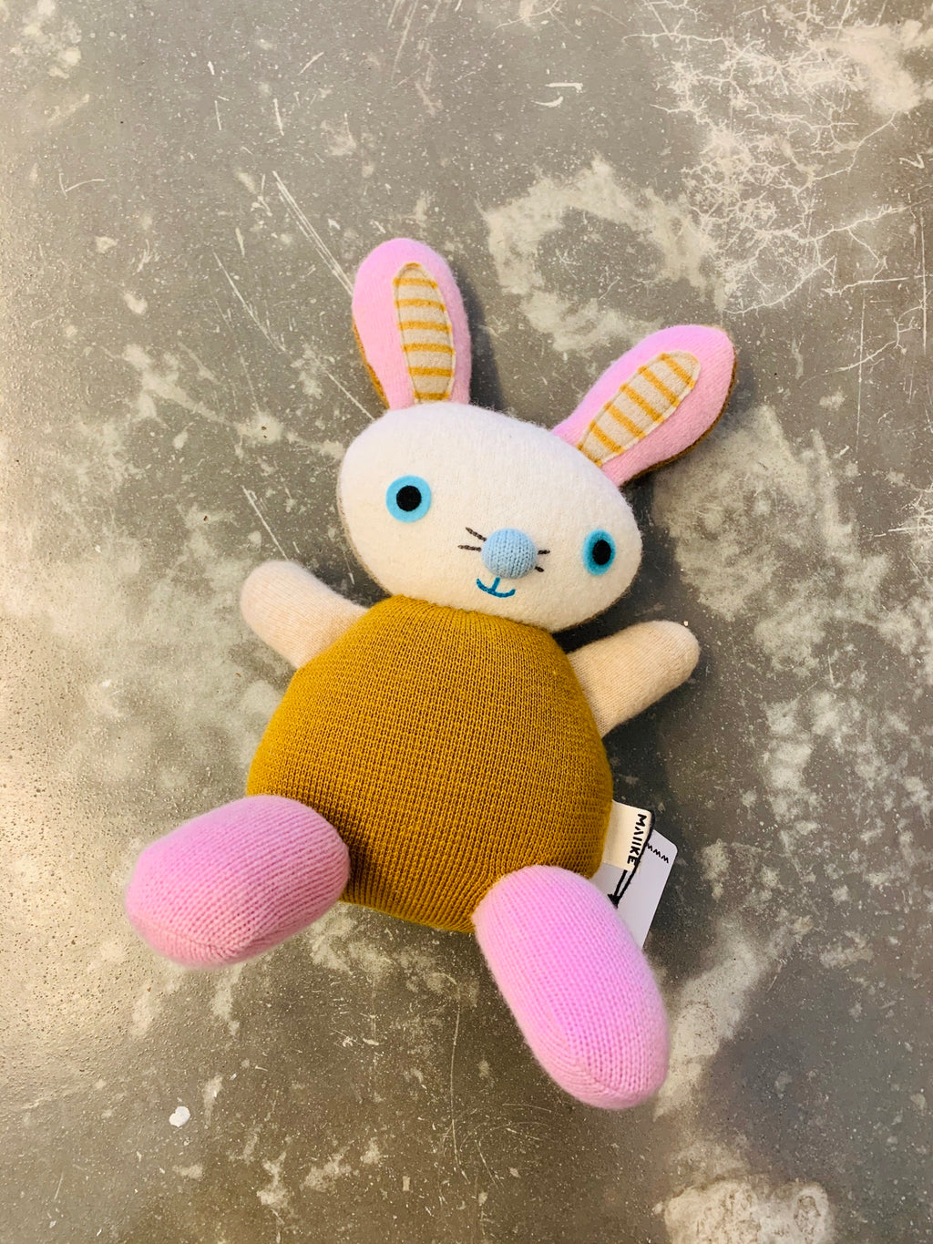 Maiike bunny in mustard by Aly Peel