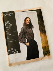 Liberty sewing pattern: Thea Boho Sleeve Shirt 6-22