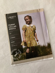 Liberty sewing pattern: Penny Collar Dress 12M-4Y