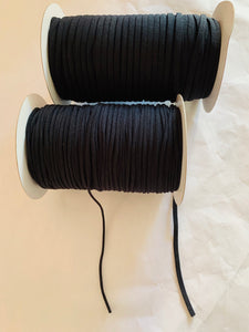 Elastic: Soft round 3mm in black or white