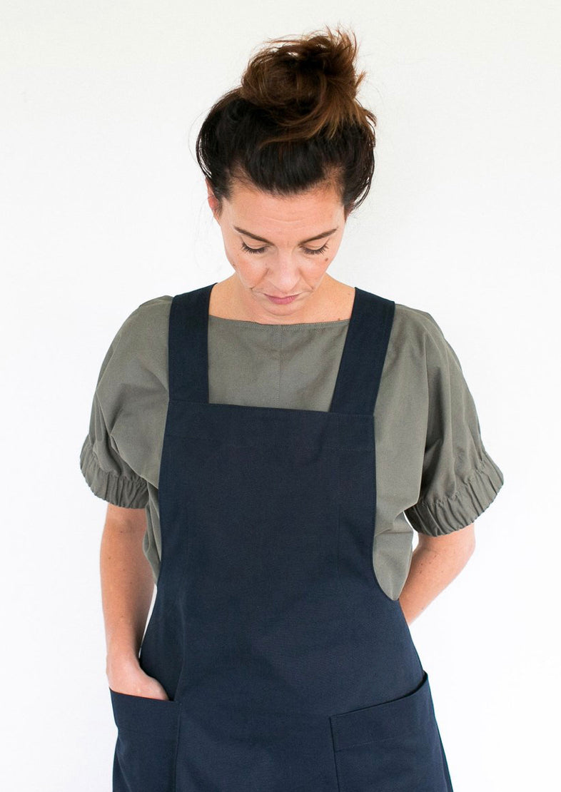 Assembly Line Apron Dress Paper Sewing Pattern
