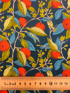 Liberty Cotton: Conservatory Fruits:  Ink