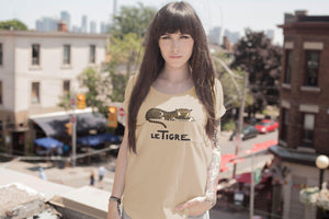 Tiger Le Tigre Ladies Sexy T-shirt Andre Helle Illustration T-Shirt