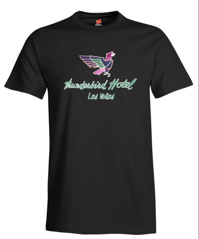 Thunderbird Hotel Vintage Las Vegas Neon Sign Reproduction Men's T-Shirt