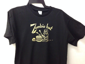 Load image into Gallery viewer, Zombie Hut Restaurant Sacramento Vintage Tiki Bar T-shirt Logo